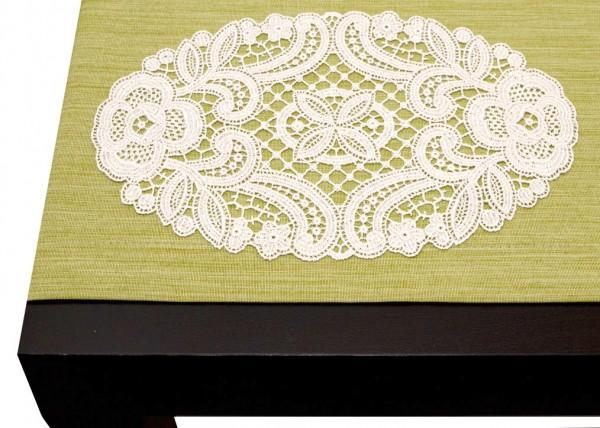 klassische ovale Deckchen aus purer Spitze