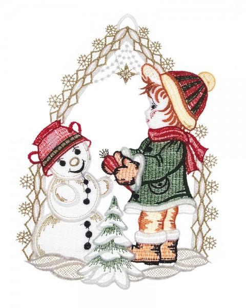 Fensterbild Winterjunge