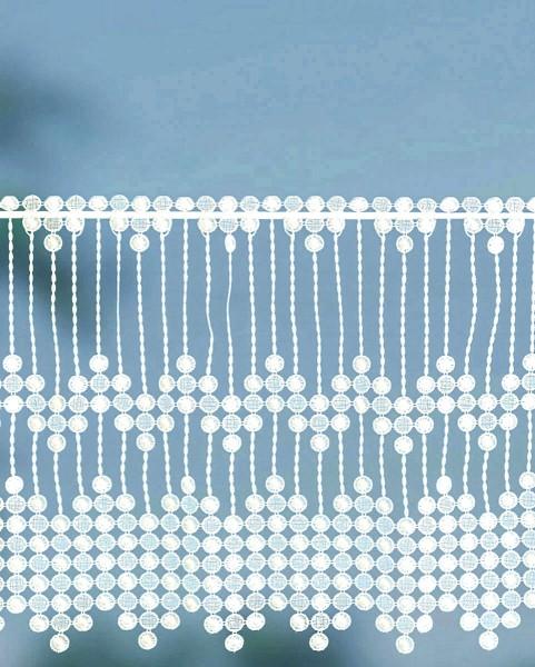 """Scheibengardine """"Perle"""" 40 cm hoch"""