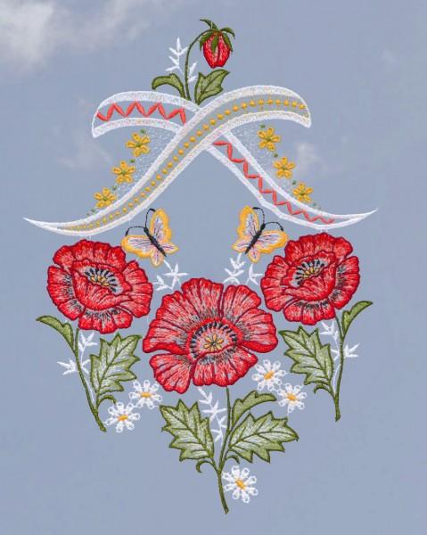 Fensterbild Mohnblumen