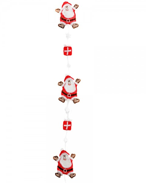 Weihnachtsmann-Girlande
