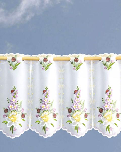 Scheibengardine Frühlingsstrauss Blumen