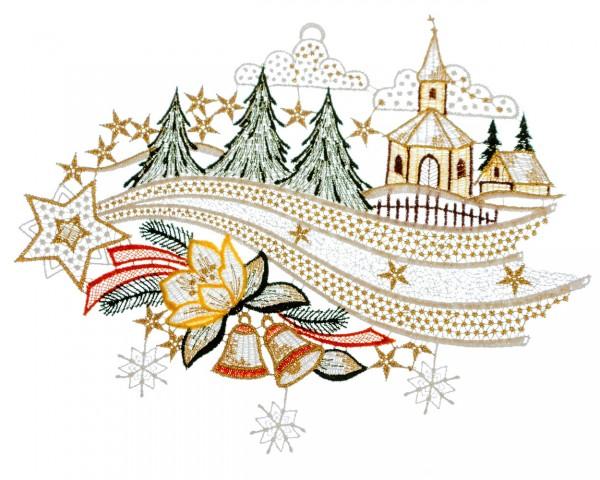 Fensterbild Winterlandschaft Sternenschweif
