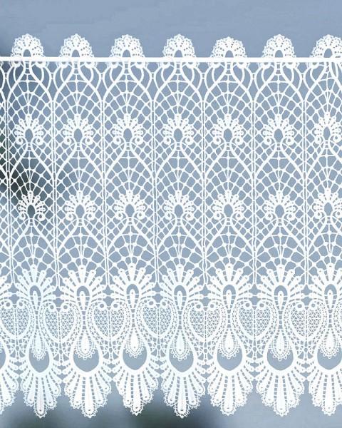 Spitzengardine im Landhausstil Makrammeespitze Höhe 58 cm