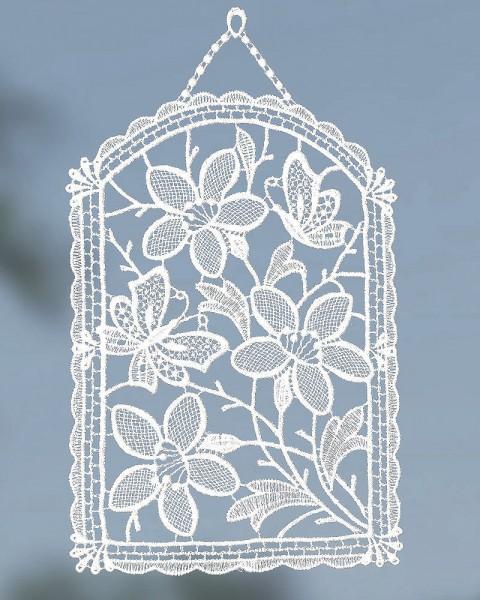 Fensterbild Schmetterling mit Blumen