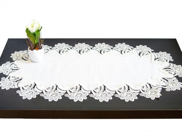Tischläufer Luisa creme mit Spitze Blumenspitze
