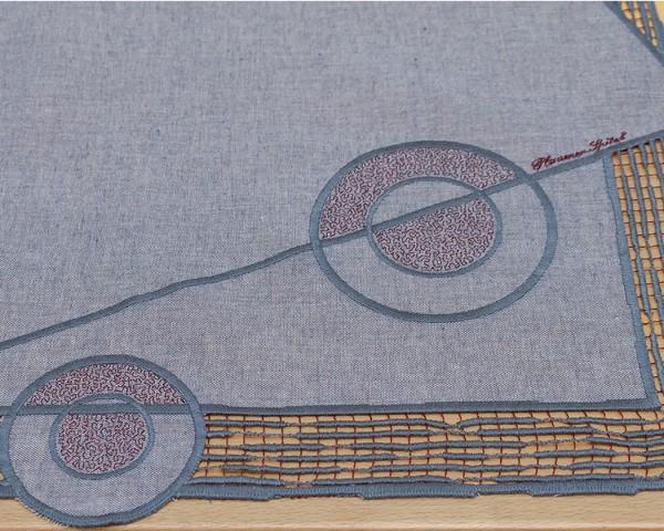 Tischläufer Asuma rot/taupe oder beige/braun