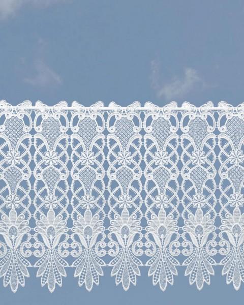 Spitzengardine Country Style 40 cm hoch in weiß