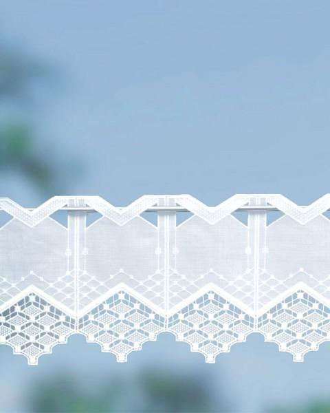Querbehang Landhausstil weiß 20 cm