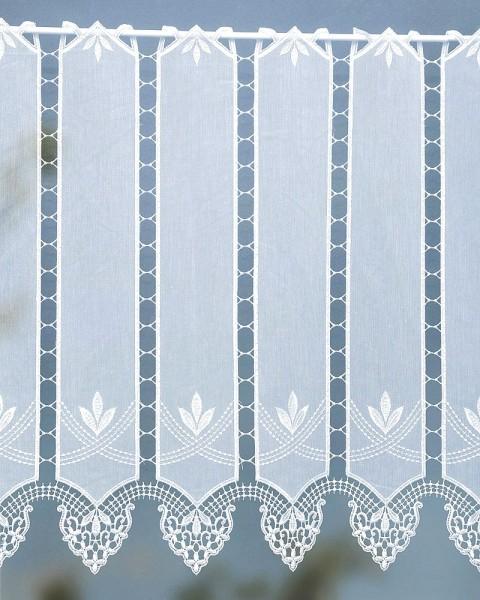 Scheibengardine mit Applikationen creme 60 cm