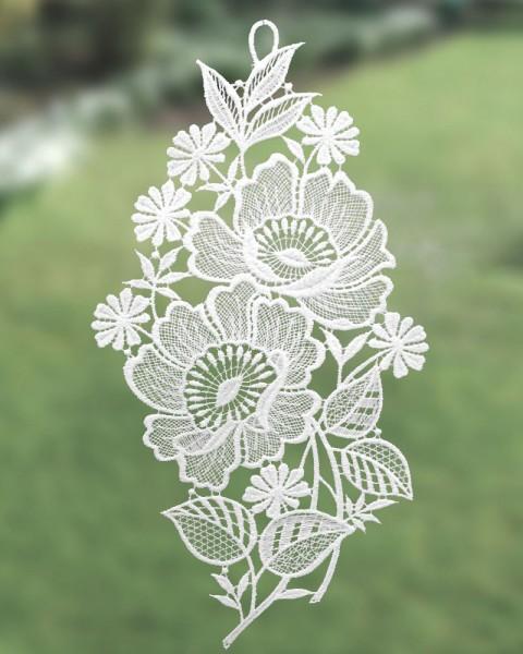 Fensterbild Mohnblume weiß