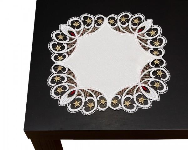 runde Tischdecke 30 cm mit Spitzenabschluß