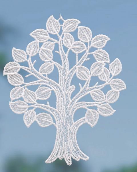 Fensterbild Baum in weiß