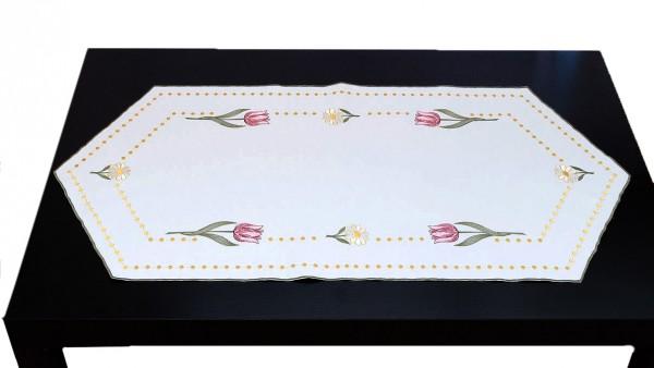 Tischläufer Tulpe 40x85 cm sechseckig
