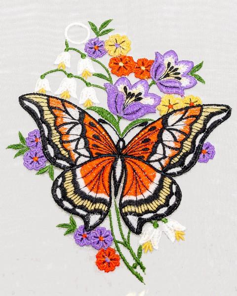 Fensterbild Schmetterling rot