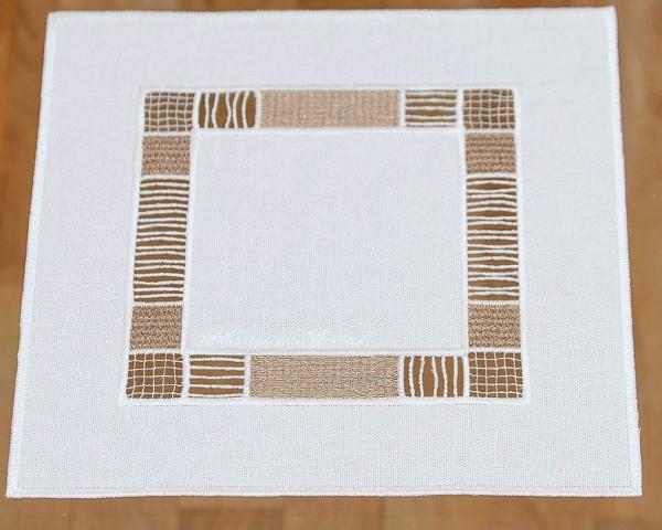 Deckchen LEA mit zarter Spitze 24x24 cm