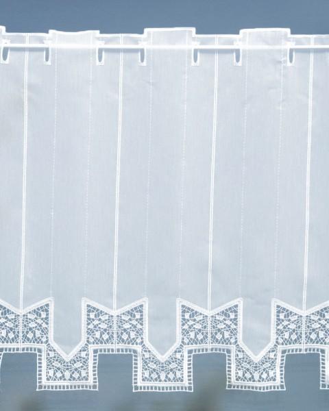 Querbehang mit Spitzenabschluß Höhe 65 cm