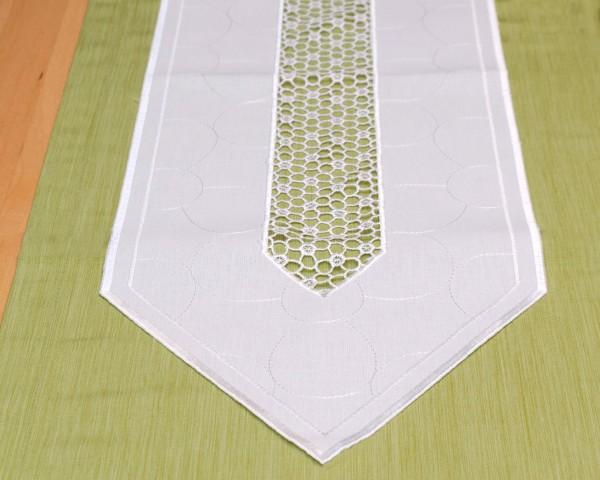 Tischläufer Tischband Aurora in weiß 25x148 cm