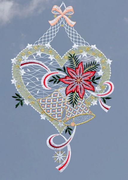 Fensterbild Weihnachtsliebe
