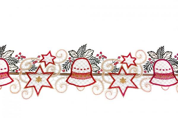 Fensterdeko Girlande Weihnachten Stern und Glocken