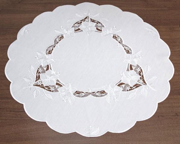 runde Tischdecke 65 cm Blumen
