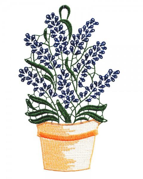 Fensterbild Lavendel im Topf