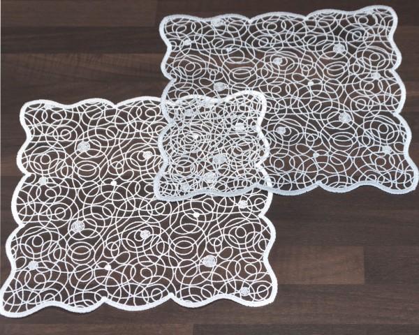 zarte Deckchen aus Spitze 28x28 cm