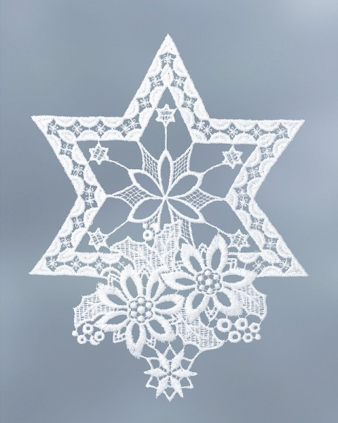 Fensterbild Stern weiß