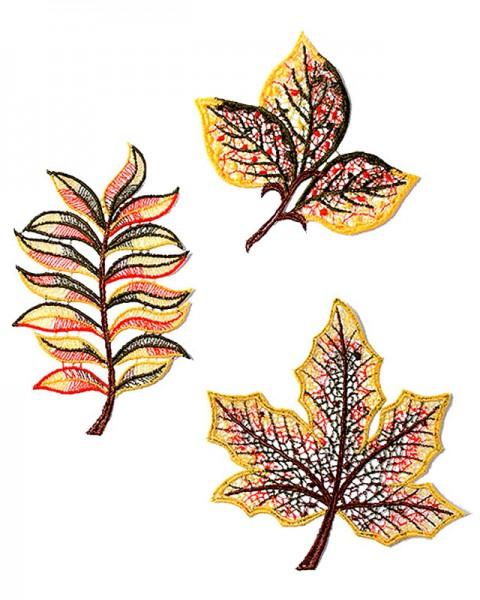 Herbstdeko drei Blätter