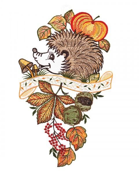 Fensterbild Herbstigel