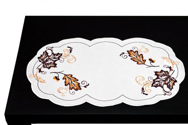 Tischläufer Herbstlaub oval 40x85 cm