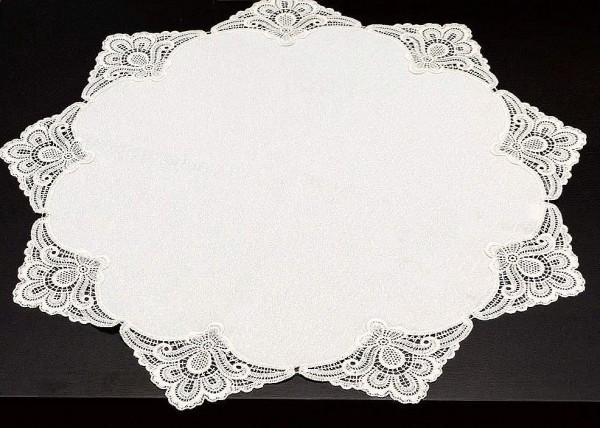 runde Tischdecke mit Spitze mit 60 cm