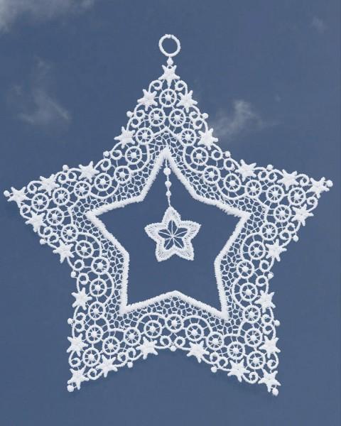 Stern mit Stern 17 cm
