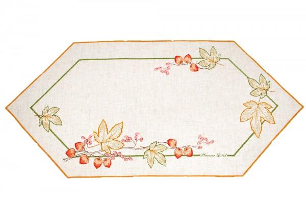 rustikaler Tischläufer Herbst farbig bestickt