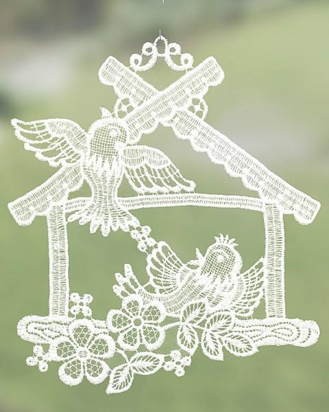 Fensterbild Vogelhaus