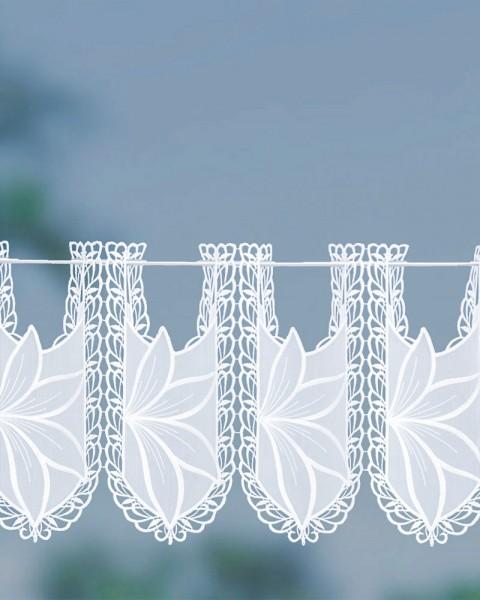 Scheibengardine Blumenhof Höhe 33 cm