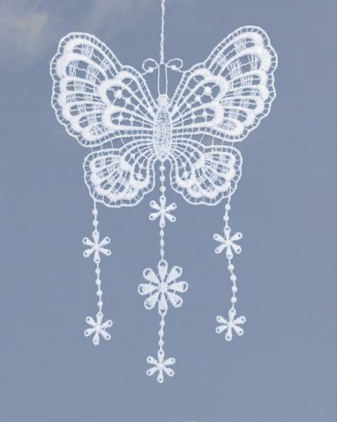 zarter Fensterschmuck Schmetterling
