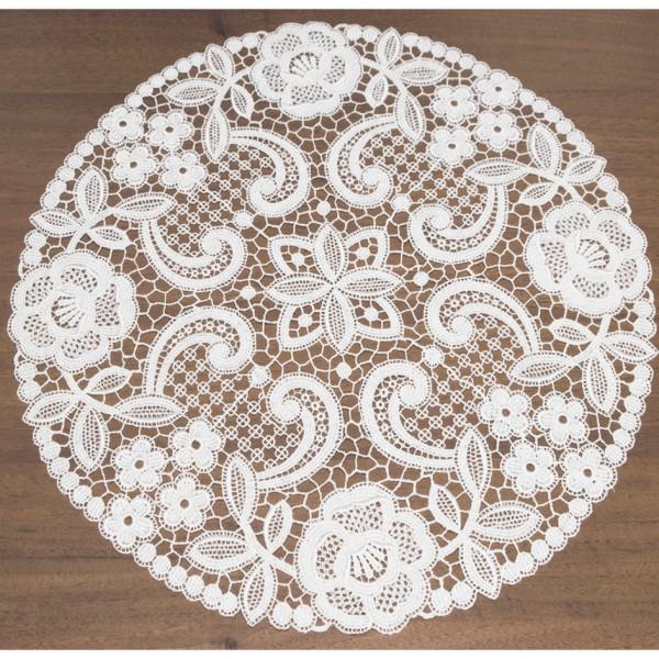 Tischdecke aus feinster Spitze rund