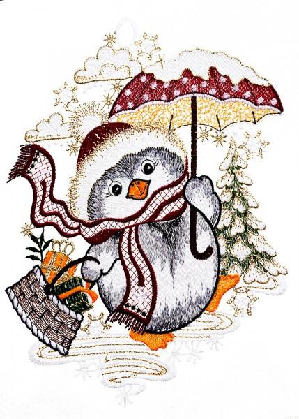 Fensterbild Pinguin
