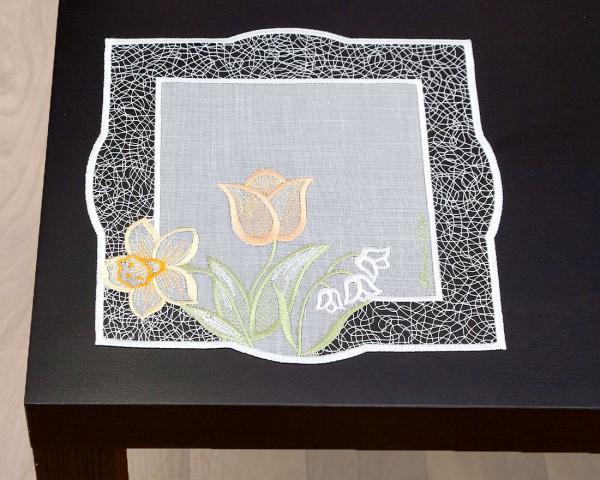 Deckchen Frühlingsstrauß 26x26 cm