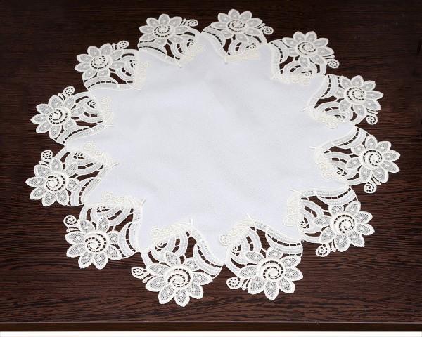 runde Tischdecke Luisa Blumenmuster
