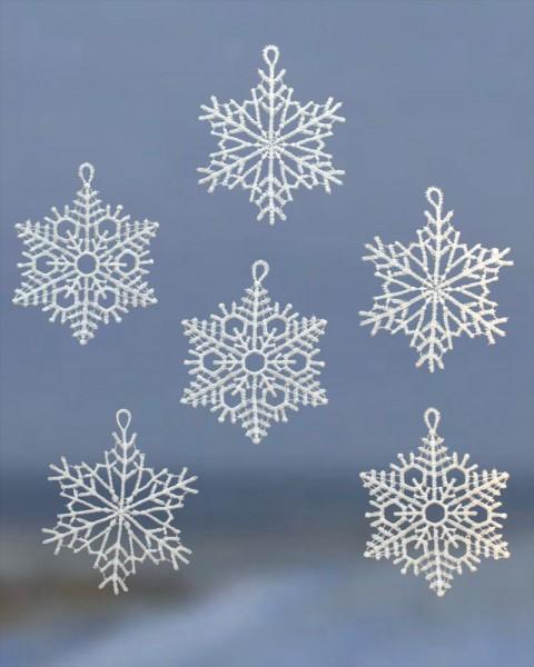 Baumbehang Schneekristall silber /weiß