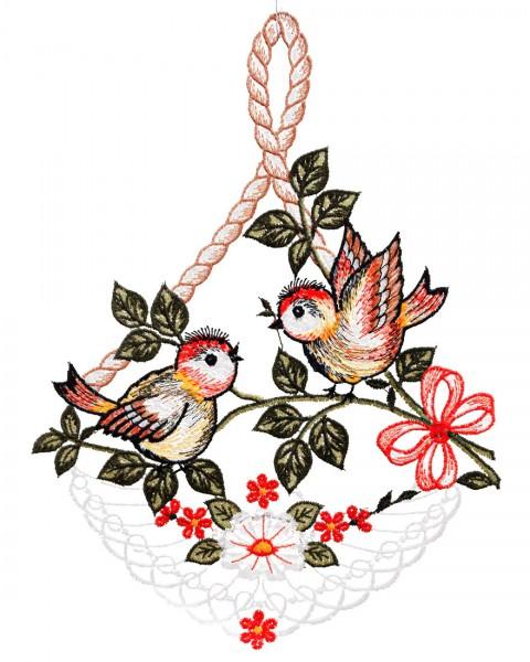 Fensterbild zwei Vögel