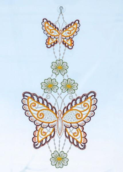 Fensterbild zwei Schmetterlinge